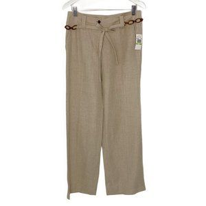 NEW Michael Kors Wide Leg Linen Pants with Belt